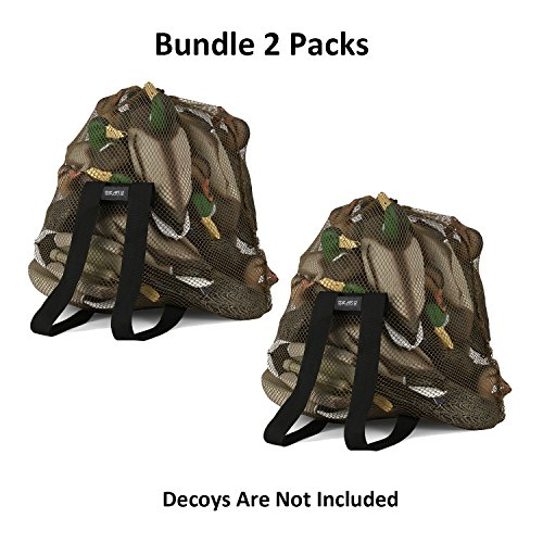 GearOZ 2 Packs-Decoy Mesh Bag For Carrying Turkey,Drake Duck, Goose,Waterfowl,Wildfowl,Marllard Hen Decoys