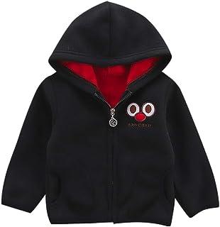 Abbigliamento da Bambine Ragazze,Bambino Ragazzo Cartone Animato Lungo Manica Felpa con Cappuccio Vello Inverno Caldo Abiti Cappotto 11.27