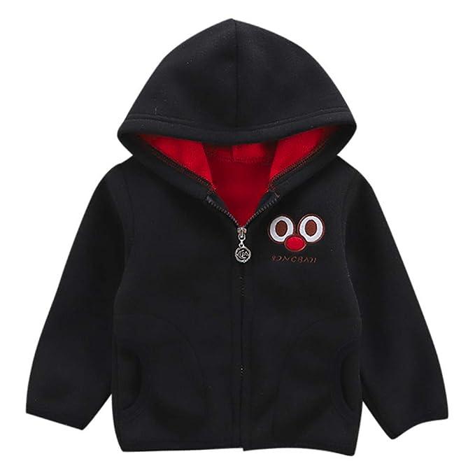 Amazon.com: Little Kids Winter Warm Coat,Jchen(TM) Fashion Toddler Baby Little Boy Girl Cartoon Long Sleeve Hoodie Fleece Winter Warm Outwear Coat Jacket ...