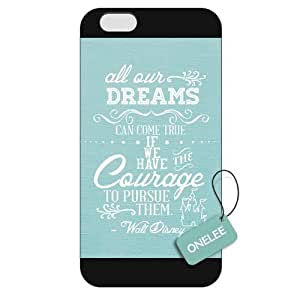 Customized Walt Disney Quotes Case Cover For Apple Iphone 6 Plus 5.5 Inch Hard Plastic case cover Black 01