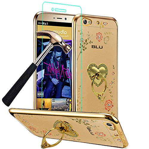 detailed look c56b2 75375 BLU VIVO 5 Case with Phone Ring Stand Holder + Screen - Import It All