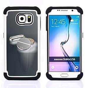 BullDog Case - FOR/Samsung Galaxy S6 G9200 / - / Metal Pills /- H??brido Heavy Duty caja del tel??fono protector din??mico - silicona suave