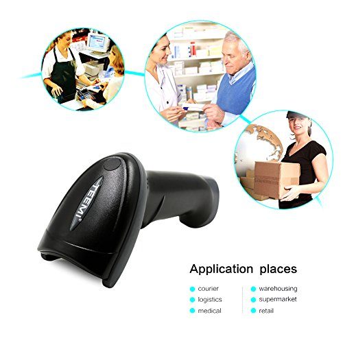 UPGRADED TEEMI TMSL-55 QR Bluetooth Barcode Scanner USB wireless Automatic 2D PDF417 Data Matrix image reader for Apple iOS, Android, Windows 10, Mac OS device by TEEMI (Image #6)