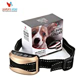 Deluxe Anti Bark Collar For Dogs By Alfie's Toys – Rechargeable & Waterproof Remote No- Bark Training Collar W/ Voice Recognition – Upgraded 2017 Model- 7 Levels Of Beep, Shock & Vibration Sensitivity