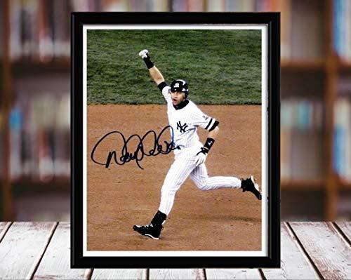 - Derek Jeter Autograph Replica Print - HR Fist Pump - 5x7 Desktop Framed Print - Portrait