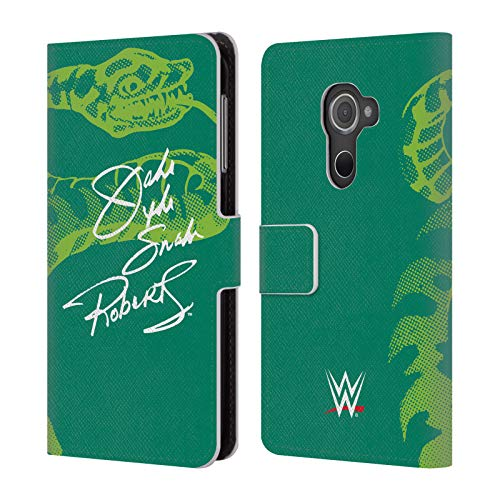 Official WWE Signature Jake The Snake Roberts Leather Book Wallet Case Cover for BlackBerry DTEK60