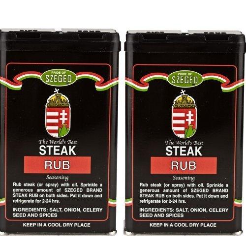 Szeged -Steak Rub / Gourmet Rub / 2 -5 Oz. Tins by Szeged