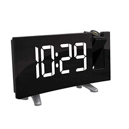 FPRW Proyector Digital Radio Reloj Despertador, Temporizador de ...