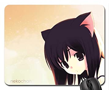 Adorable Anime Lovely Short Brown Hair Neko Innocent Girl Brown Eyes