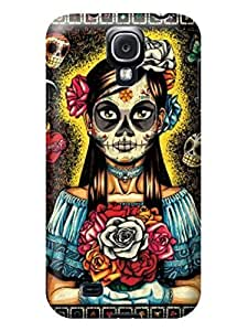 LarryToliver Cellphone Accessories samsung Galaxy s4 Case with Customizable Beautiful Skull Arts pictures Logo Background #5