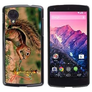 YOYOSHOP [Funny Squirrel Smoking] LG Google Nexus 5 Case by icecream design