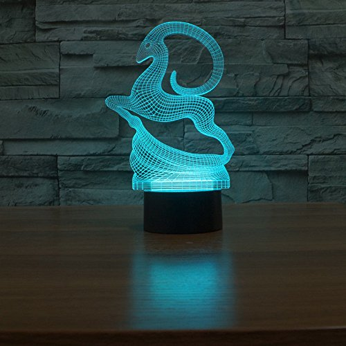 Comics+3D+Night+Lamp+ Products : Christmas Elk Gift 3D Night Light Led Acrylic Table Lamp Touch Swithch 7-Color