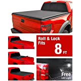 MaxMate Roll Up Truck Bed Tonneau Cover works with 2002-2018 Dodge Ram 1500; 2003-2018 Dodge Ram 2500 3500 | Fleetside 8' Bed | For models without Ram Box