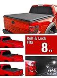 MaxMate Premium Roll Up Truck Bed Tonneau Cover 1988-2006 Chevy Silverado/GMC Sierra 1500 2500 3500 HD (Incl. 2007 Classic) | Fleetside 8' Bed