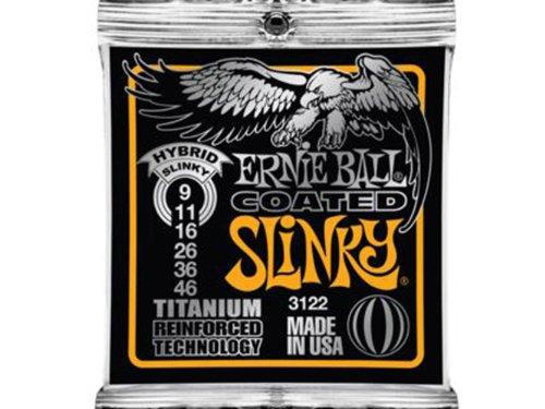 Ernie Ball Coated Electric Titanium RPS Hybrid Slinky Set, .009 - .046
