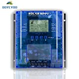 OOYCYOO 60 amp MPPT Solar Charge Controller,12V/24V Auto,60A Solar Panel Charge Regulator with LCD Display Max 100V, 780W/1560W Input,for Lead-Acid Battery(The New Upgrade)
