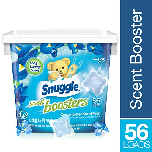 Snuggle Laundry Scent Boosters Concentrated Scent Pacs, Blue Iris Bliss, Tub, 56 Count
