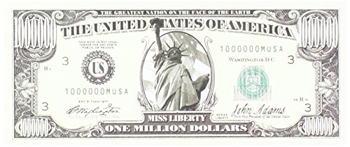 Set of 10 Bills-Traditional Million Dollar Bill by Novelties ()