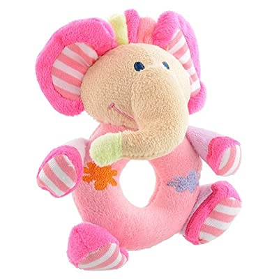 Bluelans Baby Infant Kids Gifts Cute Soft Pink Elephant Plush Rattle Educational Toys for Kids Boys Girls Xmas Gifts Xmas Stocking Fillers Party Bag Gifts: Toys & Games