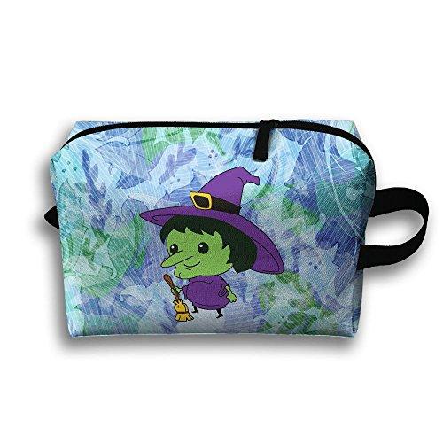 Cartoon Witch Cute Make-up Bag Multifunction High Grade Travel Case Brush Organizer
