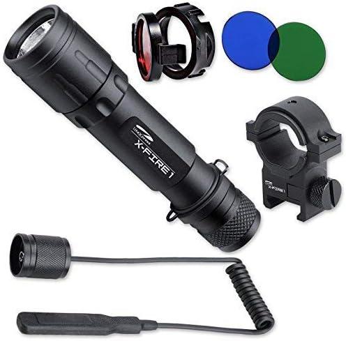LiteXpress LXL004001 X-Fire 1 LED aluminium flashlight – up to 321 Lumens