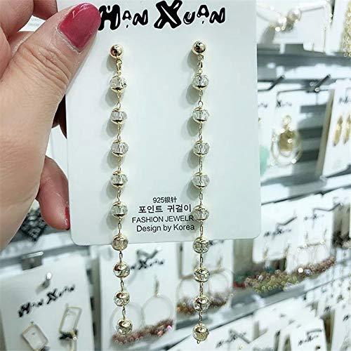 Crystal Pendant Dangle   New Water Drop Earrings   Long Chain   Glitter Alloy Earring   Women Girls Jewelry