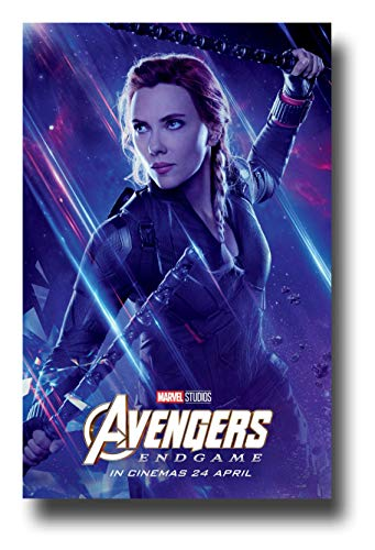 Avengers Endgame Poster Movie Promo 11 x 17 inches Black Widow Blue Galaxy