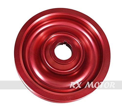Rxmotor Acura Honda B-series B16 B18 Crank Shaft Case Harmonic Balancer Pulley Wheel Red