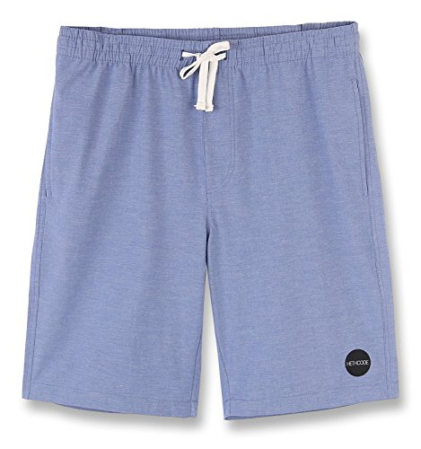 HETHCODE Mens 4Way Stretch Elastic WB Swim Boardshort Submersible Casual Shorts