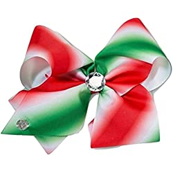 JoJo Siwa Large Cheer Hair Bow (Red/Green)