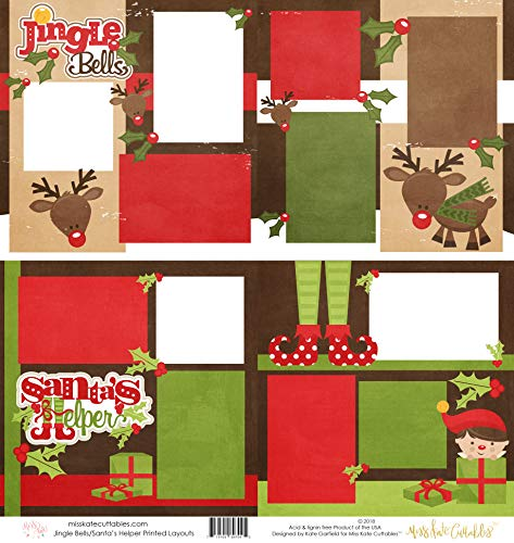 - Two Printed Layouts - Jingle Bells & Santa's Helper (boy) - 2-2 Page 12