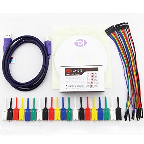 LA1010 USB Logic Analyzer for MCU/ARM/FPGA Debug 100M Max Sample Rate 16 Channels