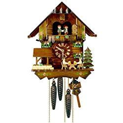 1-Day 10.6 in. Chalet Black Forest House Cuckoo Clock