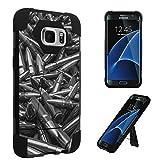 Galaxy S7 Edge Case, DuroCase ® Transforma Kickstand Bumper Case for Samsung Galaxy S7 Edge SM-G935 (Released in 2016) - (Bullets)