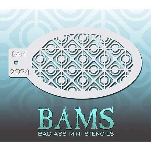 Bad Ass Retro Circles Mini Stencil BAM2024 -