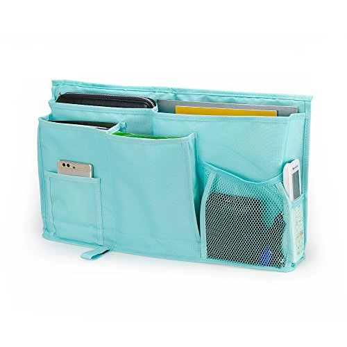 WeiBonD Caddy Hanging Organizer – Large Capacity 8 Pockets Bedside Storage Bag with Velcro Strap for Placed on Headboard, Bed Rails, Dorms, Bunk Bed and Hospital Bed (Bunk Bed Accessories)