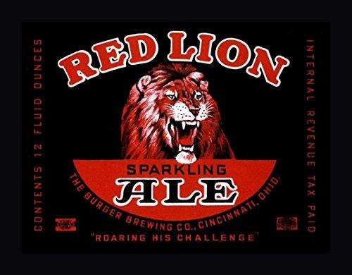 Red Lion Ale by Vintage Booze Labels - 27