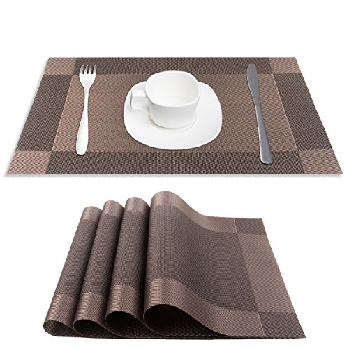 Tableware Vases (PVC Place Mats, CSYS Heat Insulation PVC Placemats Stain Kitchen Tool Tableware Pad Coaster Coffee Tea Place Mat Decorative Vinyl Placemats for Dining Table (Blown))