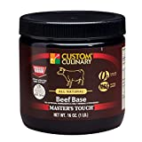 Custom Culinary Masters Touch All Natural Reduced Sodium Beef Base, 1 Pound -- 6 per case.