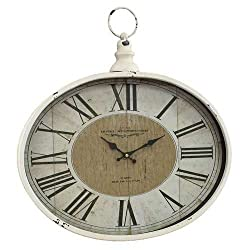 Aspire Westminster Pocket Watch Wall Clock, White