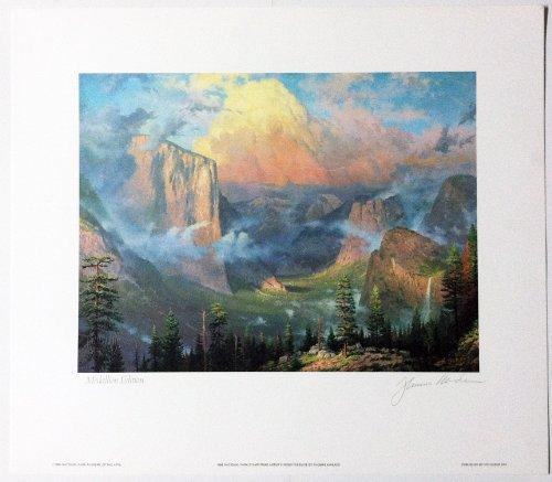 Thomas Kinkade Yosemite Signed by Artist Limited Medallion Edition 1989 National Park Stamp Print.