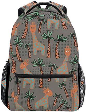 キリンツリーカジュアルバッグ リュック リュック ショルダーバッグ 流行 おしゃれ 人気 ラップトップバッグ こども 通勤 通学