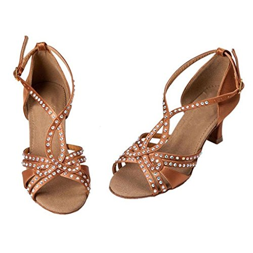 Dance Tango Room Shoes Monie 3 Salsa Ballroom Women's Latin Glittery Di Jewel wRqZFw6A