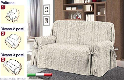 Copridivano Shabby Chic : Amazon.de: sofaüberwurf in 3 größen jacquard mischgewebe baumwolle