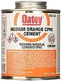 Oatey 31130 CPVC Medium Orange Cement, 16-Ounce