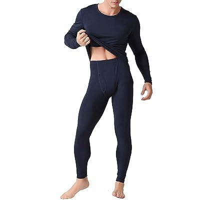 AjayR Men's Thermal Underwear Set Thin Ultra Soft Pajamas Base Layer Long John at Amazon Men's Clothing store