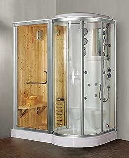 box doccia idromassaggio finska con sauna e bagno turco