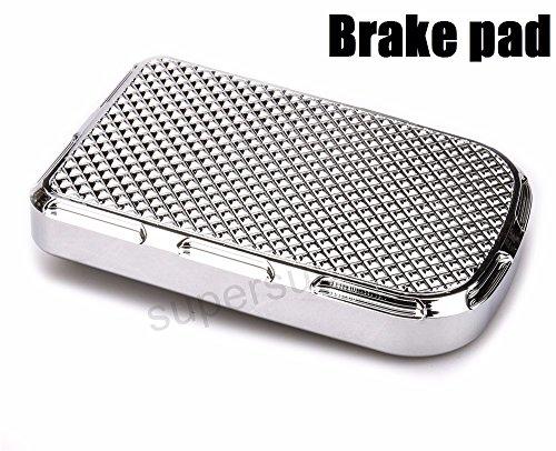 - Chrome CNC Beveled Brake Pedal Pad Cover harley softail brake pedal cover dyna street bob brake pads cover