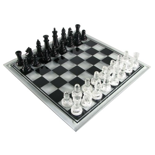 (Wood Expressions Glass Chess Set)