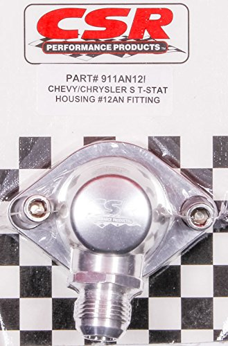 CSR Performance Products 911AN12C Clear Swivel Thermostat Housing for Chevy